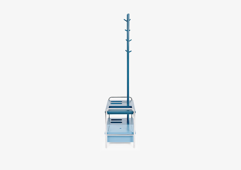 Coat Stand – Blue – Lacquered – Silver – MILES by MARQQA Furniture