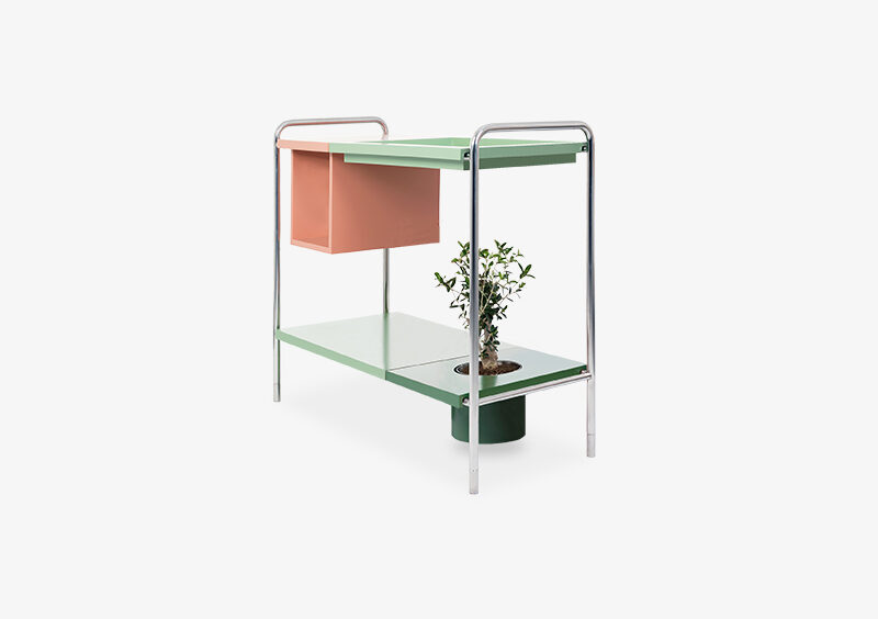 Console Table – Lacquered – Silver – EMILY by MARQQA Furniture