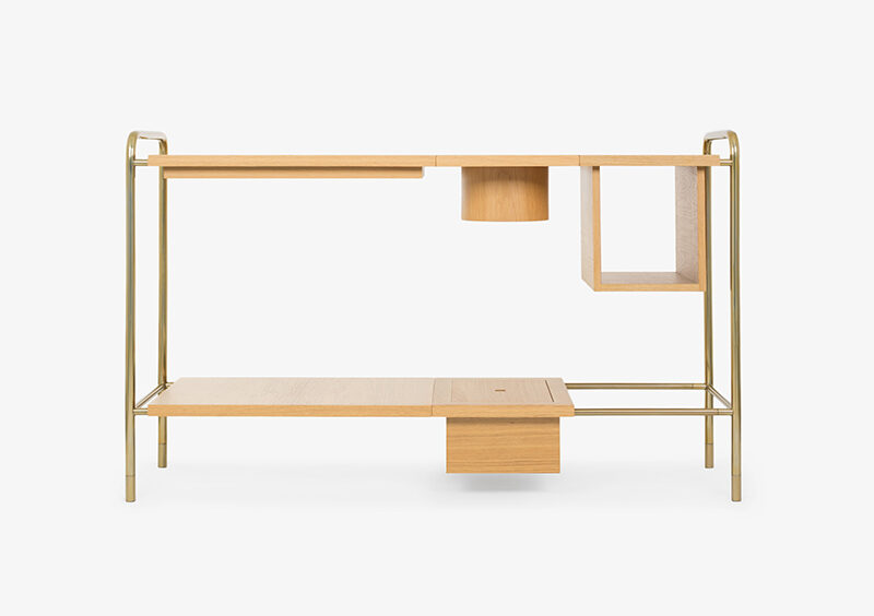 Console Table – Wood – Gold – JERICHO by MARQQA Furniture