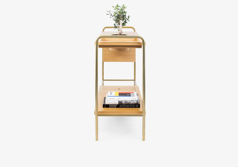 Console Table – Wood – Gold – JERICHO by MARQQA