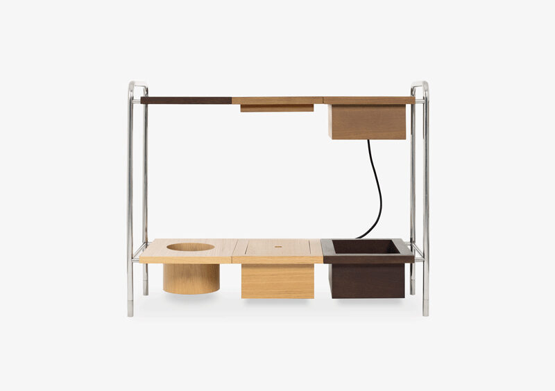 Console Table – Wood – Silver – OSCAR by MARQQA Furniture