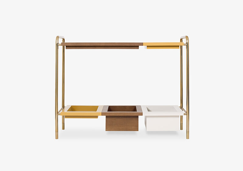 Console Table – Wood – Lacquered – Gold – XAVIER by MARQQA Furniture