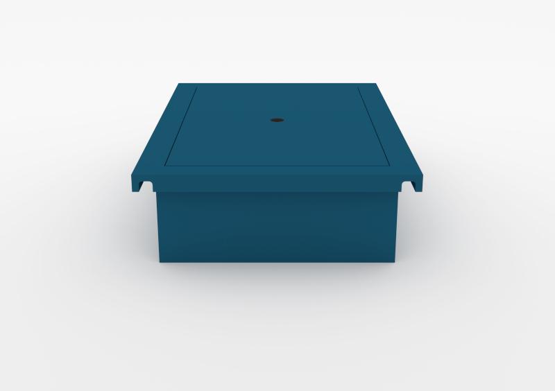 Laptop Box – Lacquered – Dark Blue – MARQQA Furniture