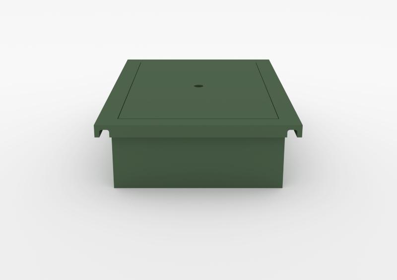Laptop Box – Lacquered – Dark Green – MARQQA Furniture