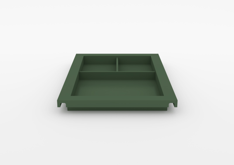 Large Divided Tray – Lacquered – Dark Green – MARQQA Furniture