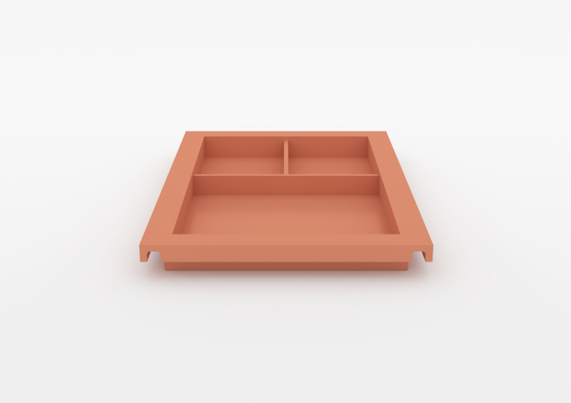 Large Divided Tray – Lacquered – Rose – MARQQA Furniture
