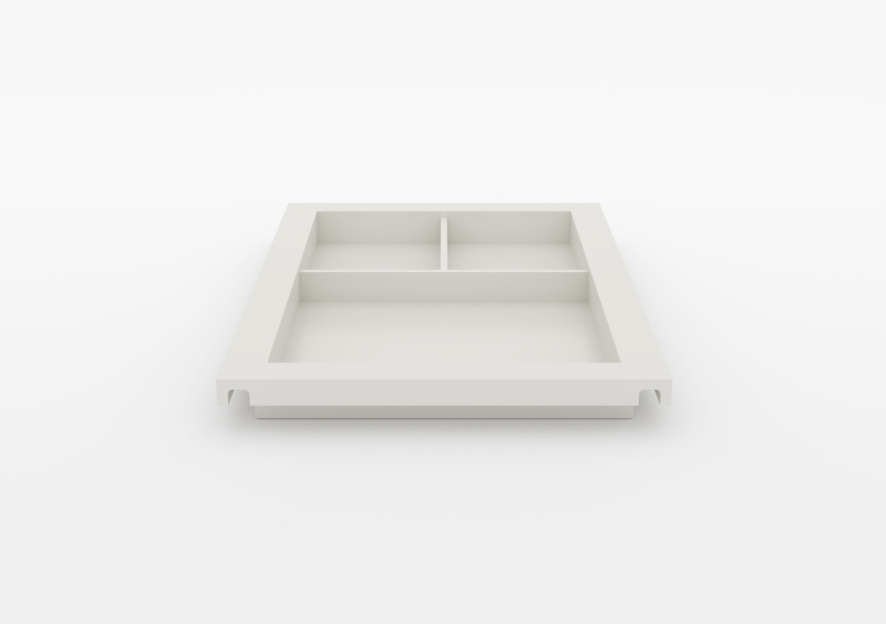 Large Divided Tray – Lacquered – White – MARQQA Furniture