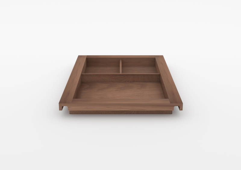 Large Divided Tray – Wood – Brown – MARQQA Furniture