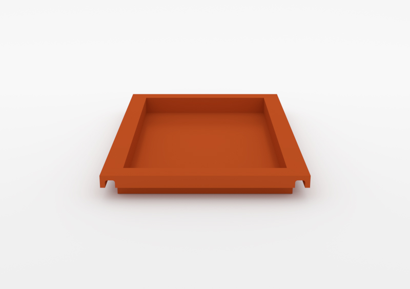 Large Tray – Lacquered – Brick – MARQQA Furniture