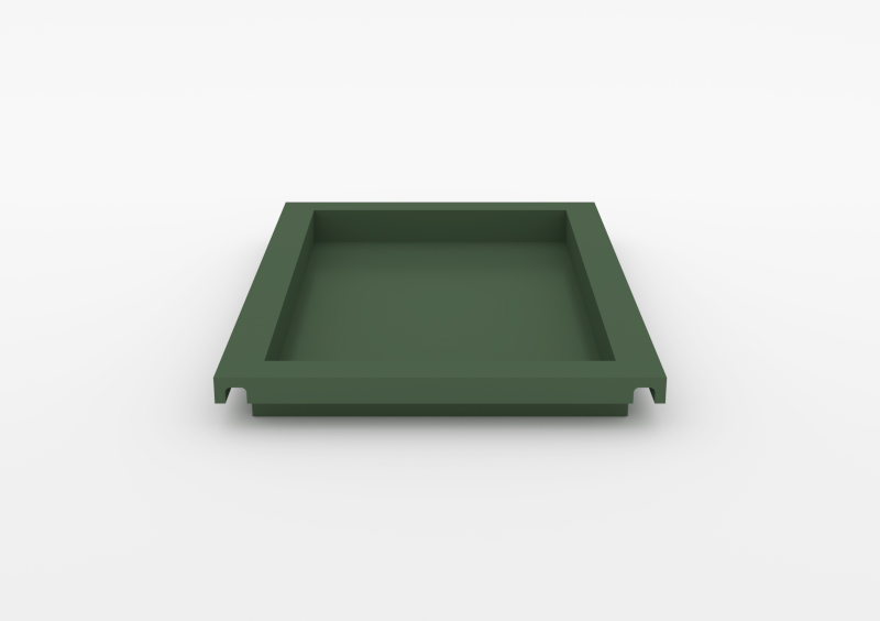 Large Tray – Lacquered – Dark Green – MARQQA Furniture