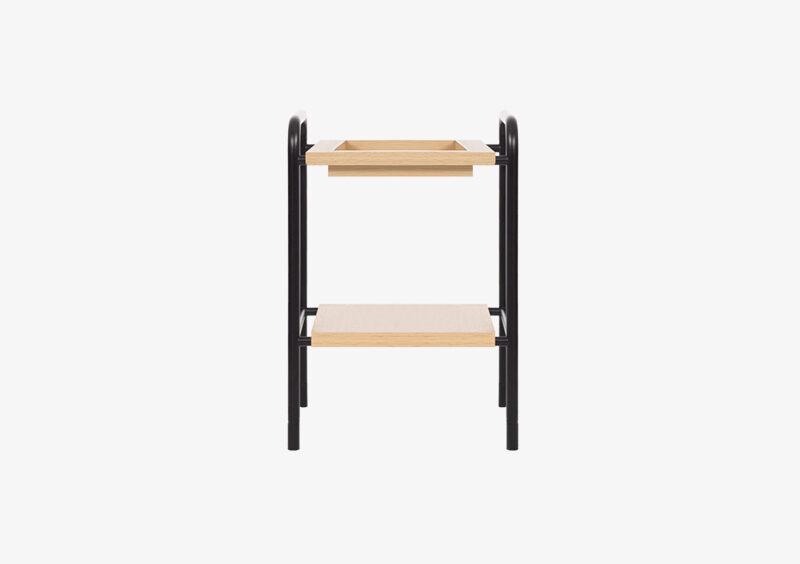 Side Table – Black – Wood – ASHLEY by MARQQA Furniture
