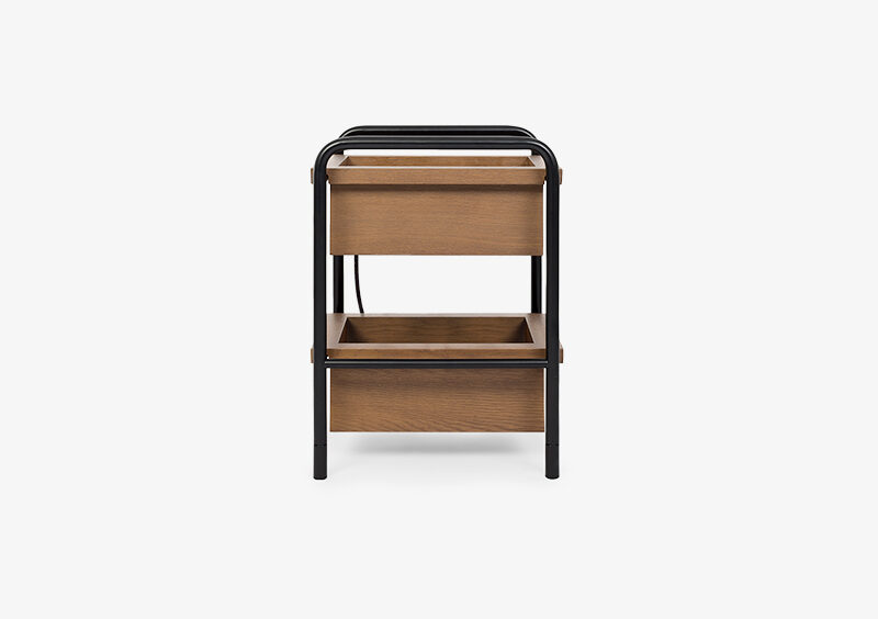 Side Table – Black – Wood – CASPER by MARQQA Furniture