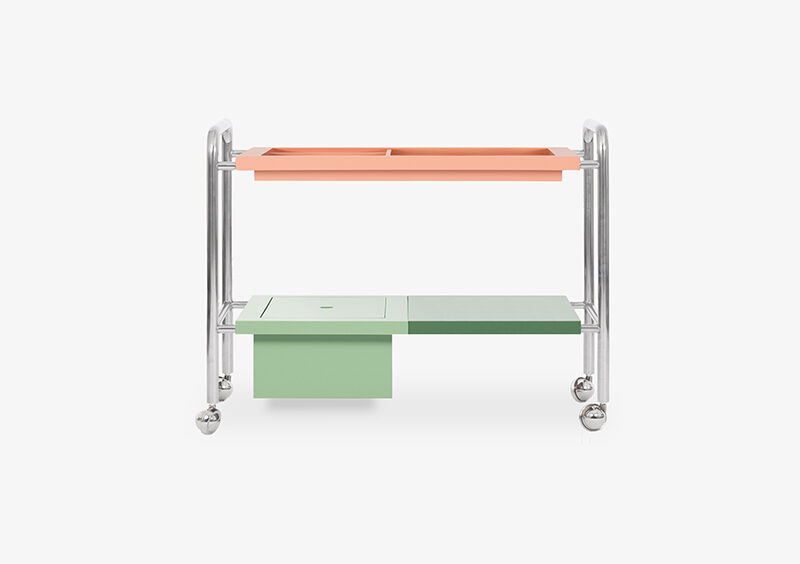 Side Table – Silver – Lacquered – CHARLOTTE by MARQQA Furniture