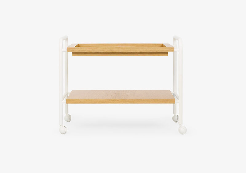 Side Table – White – Wood – CLAIRE by MARQQA Furniture