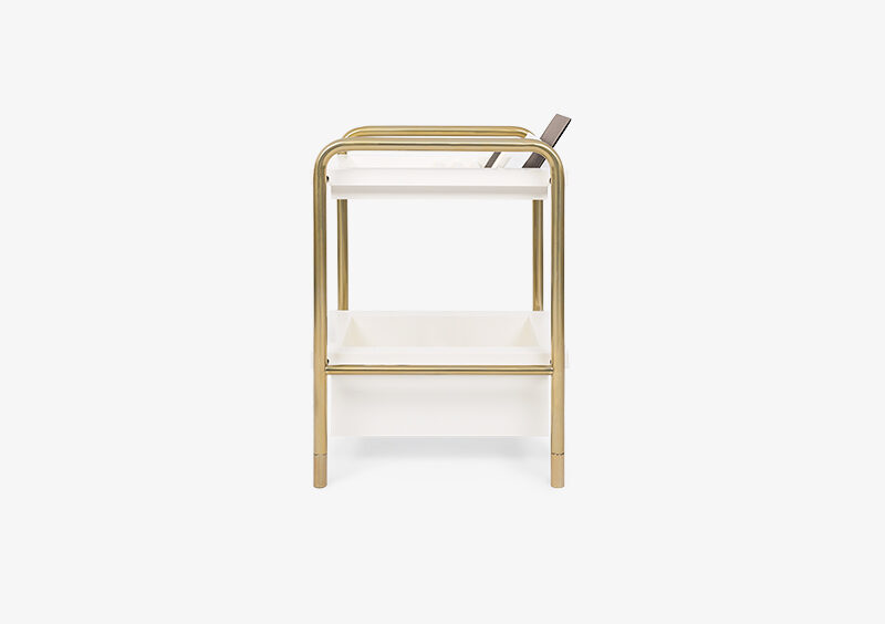 Side Table – White – Gold – ELIZABETH by MARQQA Furniture