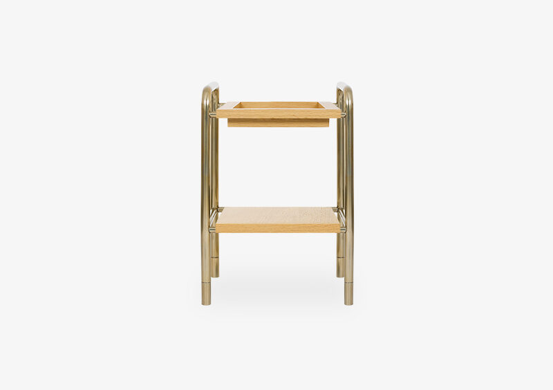 Side Table – Wood – Gold – EVE by MARQQA Furniture