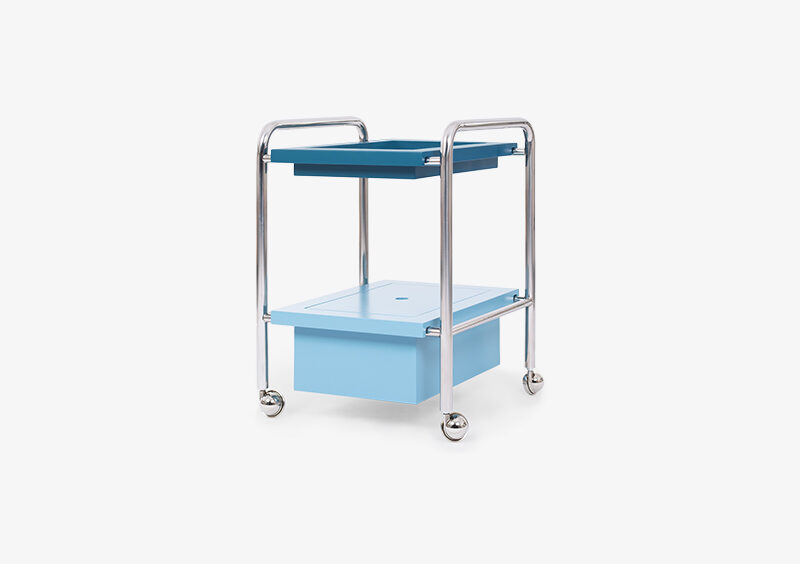 Side Table – Lacquered – Silver – Blue – GABRIEL by MARQQA Furniture