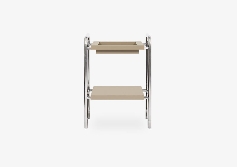 Side Table – Lacquered – Silver – JACK by MARQQA Furniture