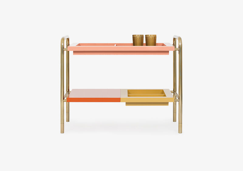 Side Table – Lacquered – Gold – JULIA by MARQQA Furniture