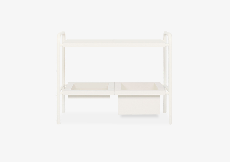 Side Table – Lacquered – White – KEIRA by MARQQA Furniture