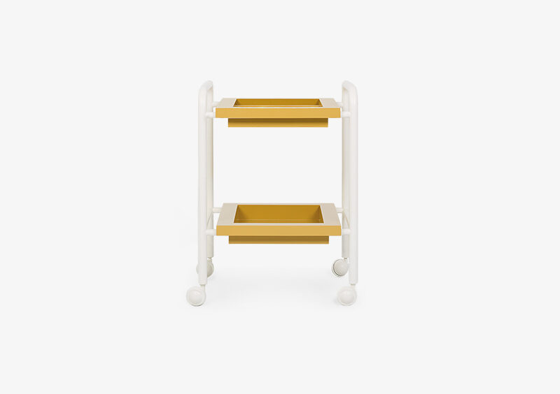 Side Table – Lacquered – Yellow – White – MARTHA by MARQQA Furniture