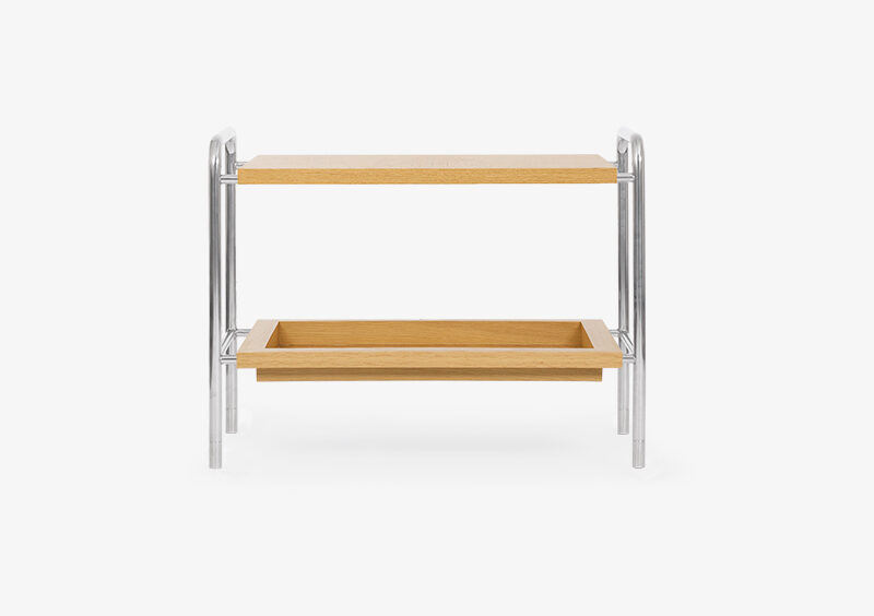 Side Table – Wood – Silver – PETER by MARQQA Furniture