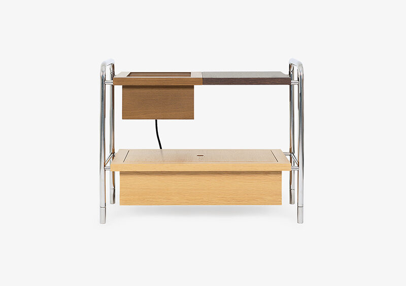 Side Table – Wood – Silver – SAMUEL by MARQQA Furniture