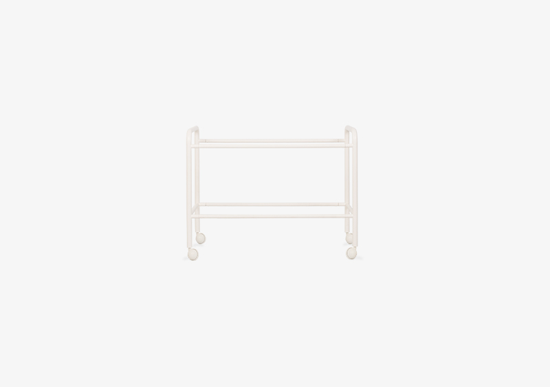 Side Table Structure – Metal – White – MARQQA Furniture