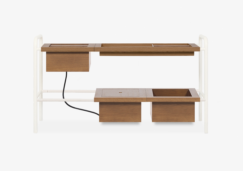 Side Table – Wood – White – THOMAS by MARQQA Furniture