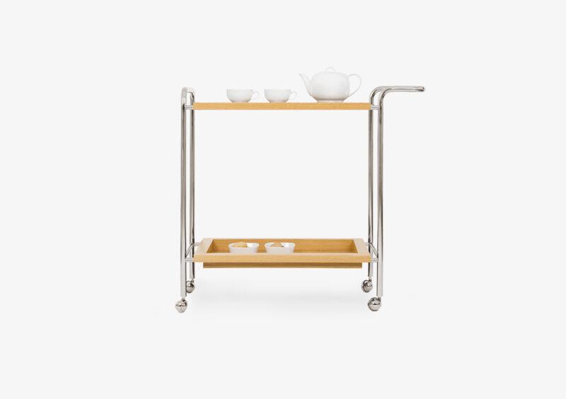 Tea Trolley – Wood – Silver – ANNA by MARQQA Furniture