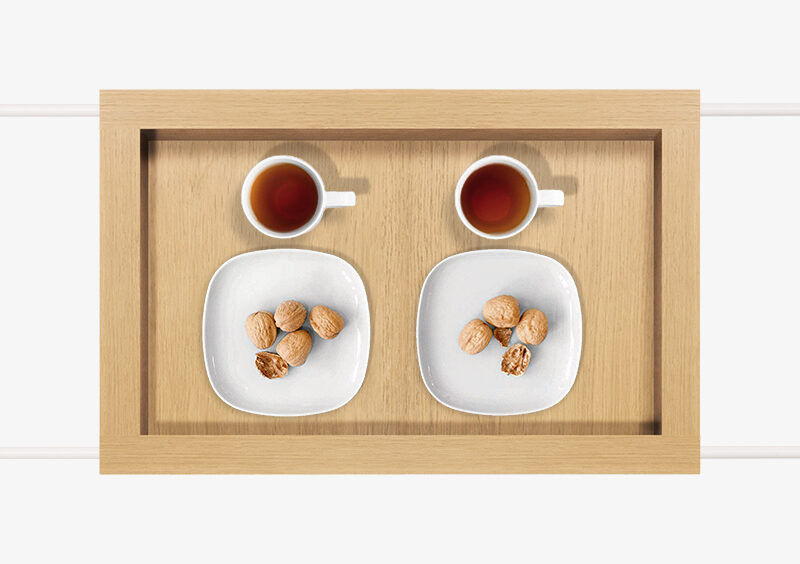 Tea Trolley – Wood – White – CAROLINE by MARQQA Furniture