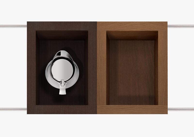 Tea Trolley – Wood – Silver – EUGENIE by MARQQA Furniture
