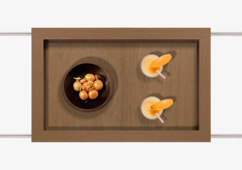 Tea Trolley – Wood – Silver – JAMES by MARQQA Furniture