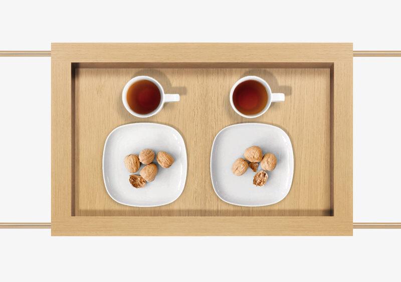 Tea Trolley – Wood – Gold – LAURA by MARQQA Furniture