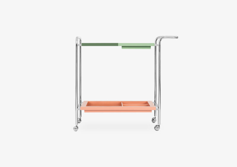 Tea Trolley – Lacquered – Silver – MADELINE by MARQQA Furniture