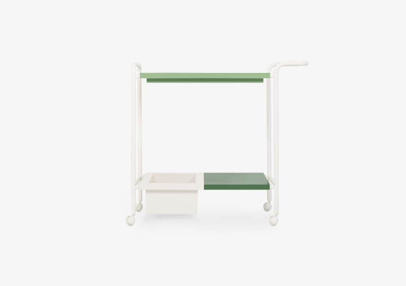 Tea Trolley – White – Green – SOPHIE by MARQQA