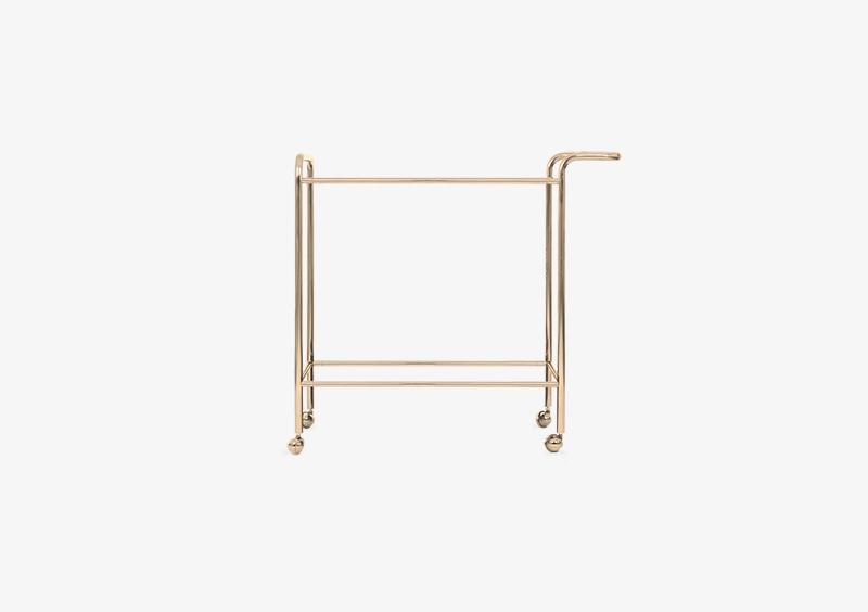 Tea Trolley Structure – Metal – Gold – MARQQA Furniture