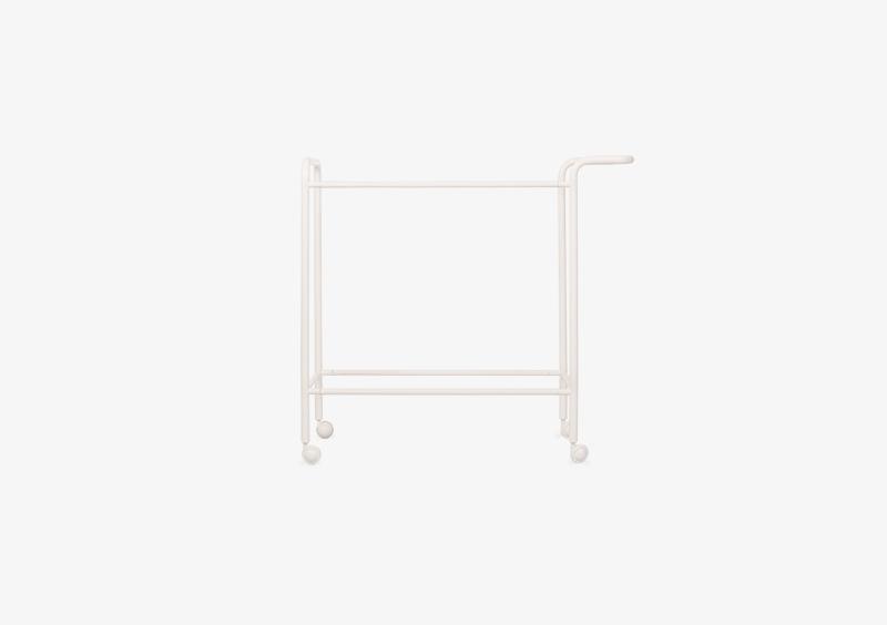 Tea Trolley Structure – Metal – White – MARQQA Furniture