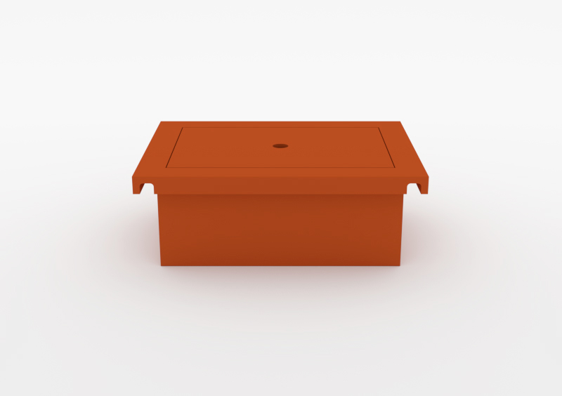 Box With Lid – Lacquered – Brick – MARQQA Furniture
