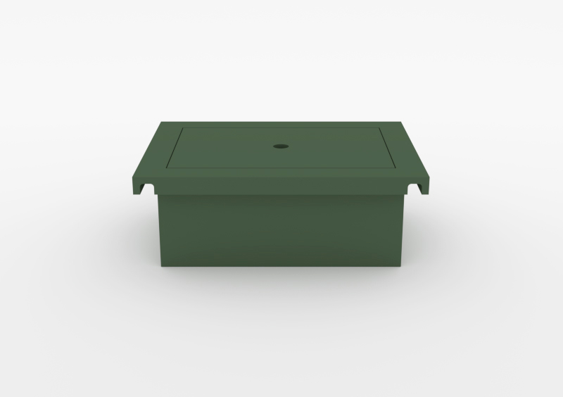 Box With Lid – Lacquered – Dark Green – MARQQA Furniture