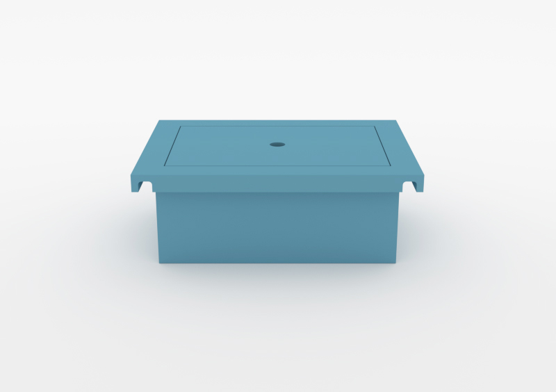 Box With Lid – Lacquered – Light Blue – MARQQA Furniture