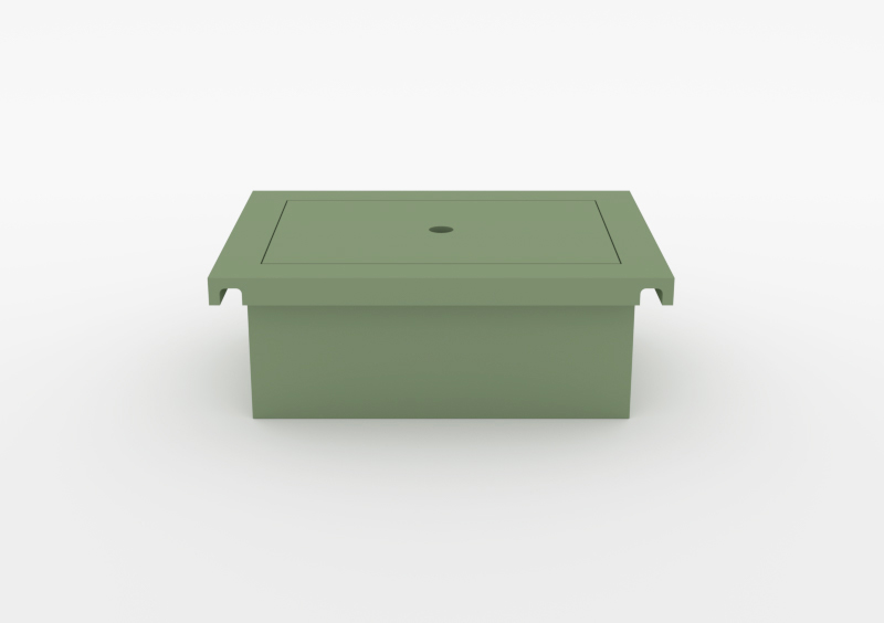 Box With Lid – Lacquered – Light Green – MARQQA Furniture