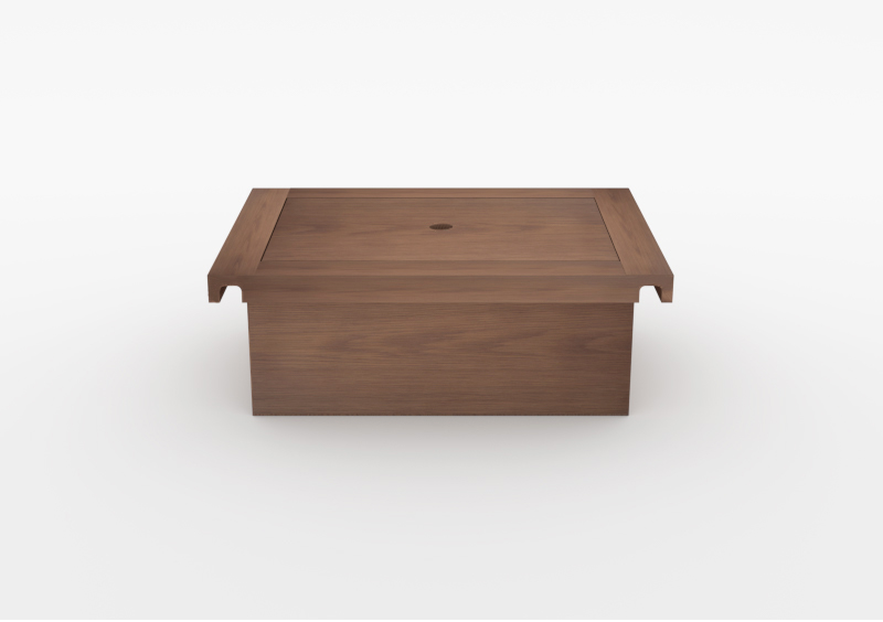 Box With Lid – Wood – Brown – MARQQA Furniture