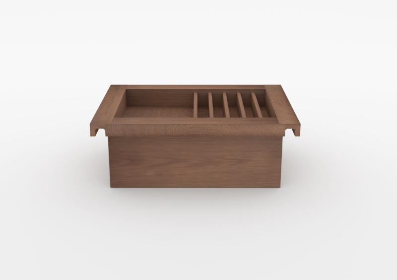 Charging Box – Power Strip – Wood – Brown – MARQQA Furniture