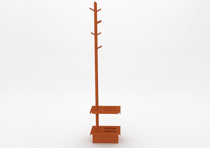 Coat Stand – Lacquered – Brick – MARQQA Furniture