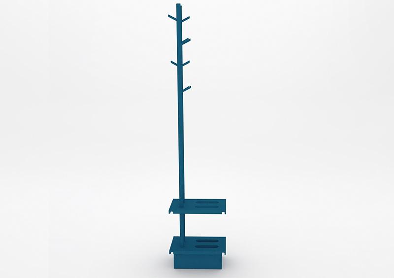 Coat Stand – Lacquered – Dark Blue – MARQQA Furniture