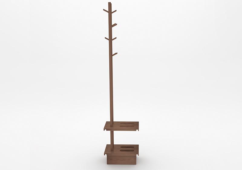 Coat Stand – Wood – Brown – MARQQA Furniture