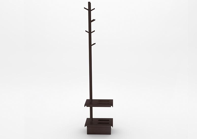 Coat Stand – Wood – Chocolate – MARQQA Furniture