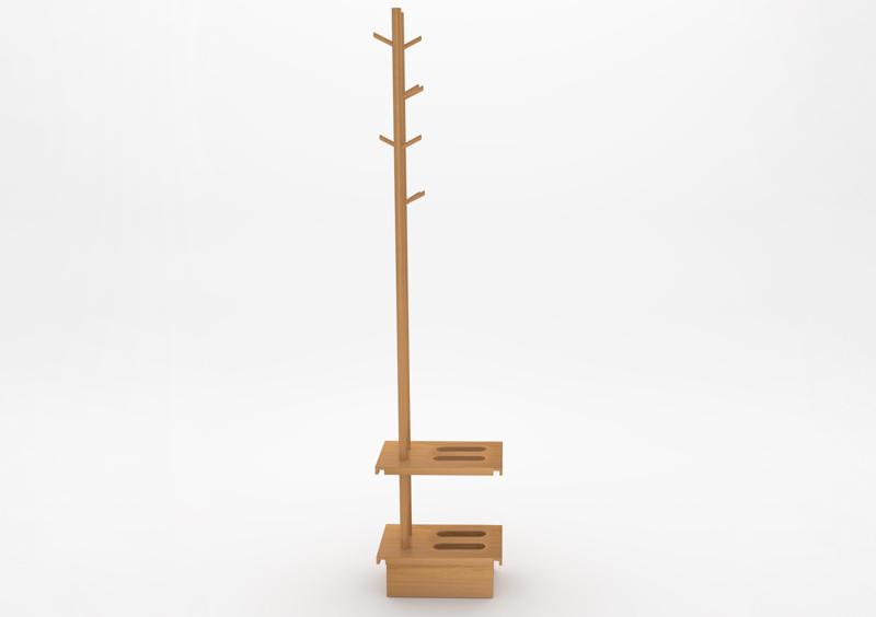 Coat Stand – Wood – Natural – MARQQA Furniture