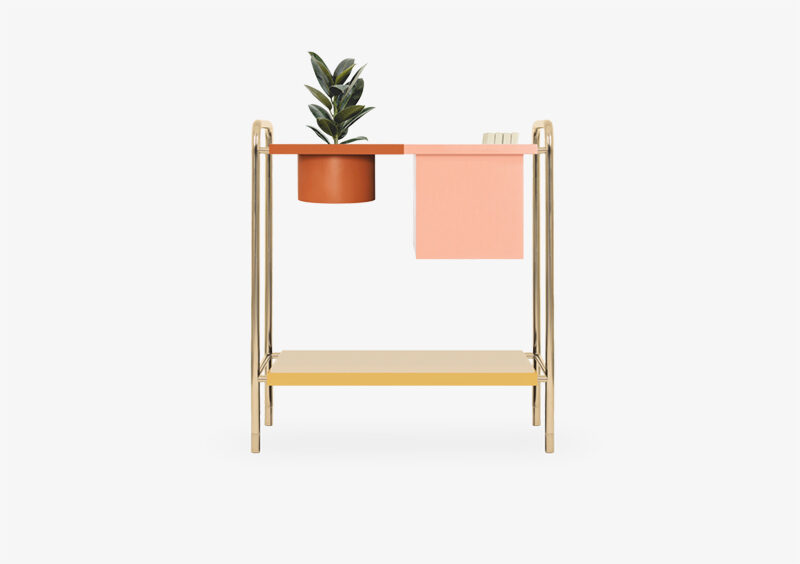 Console Table – Lacquered – Gold – ELLA by MARQQA Furniture